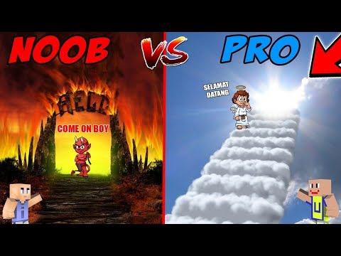 MINECRAFT: NOOB VS PRO - Surga VS Neraka