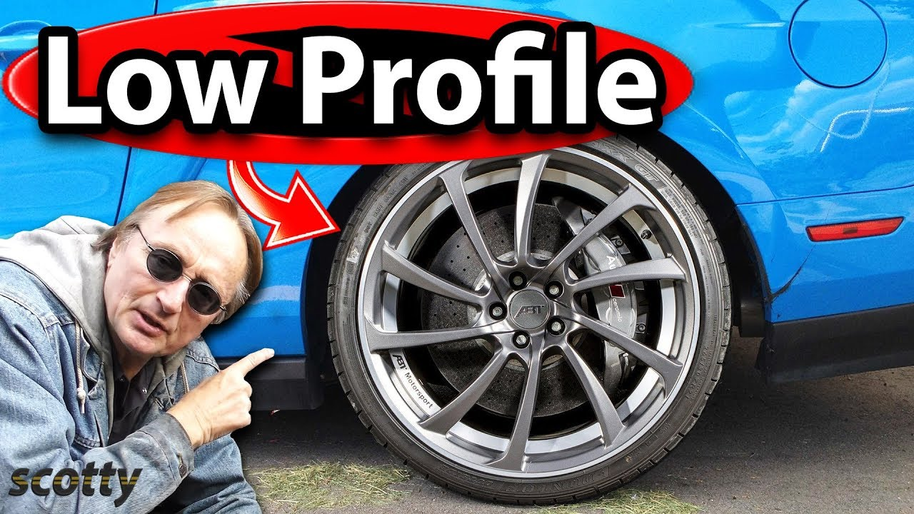 why not to buy low profile tires for your car youtube. Black Bedroom Furniture Sets. Home Design Ideas