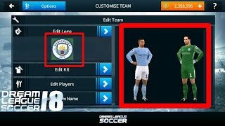 How To Change Manchester City logo And Kits In Dream league Soccer 2018