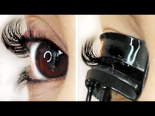How To Curl Straight Lashes To Stay All Day Youtubedownloado