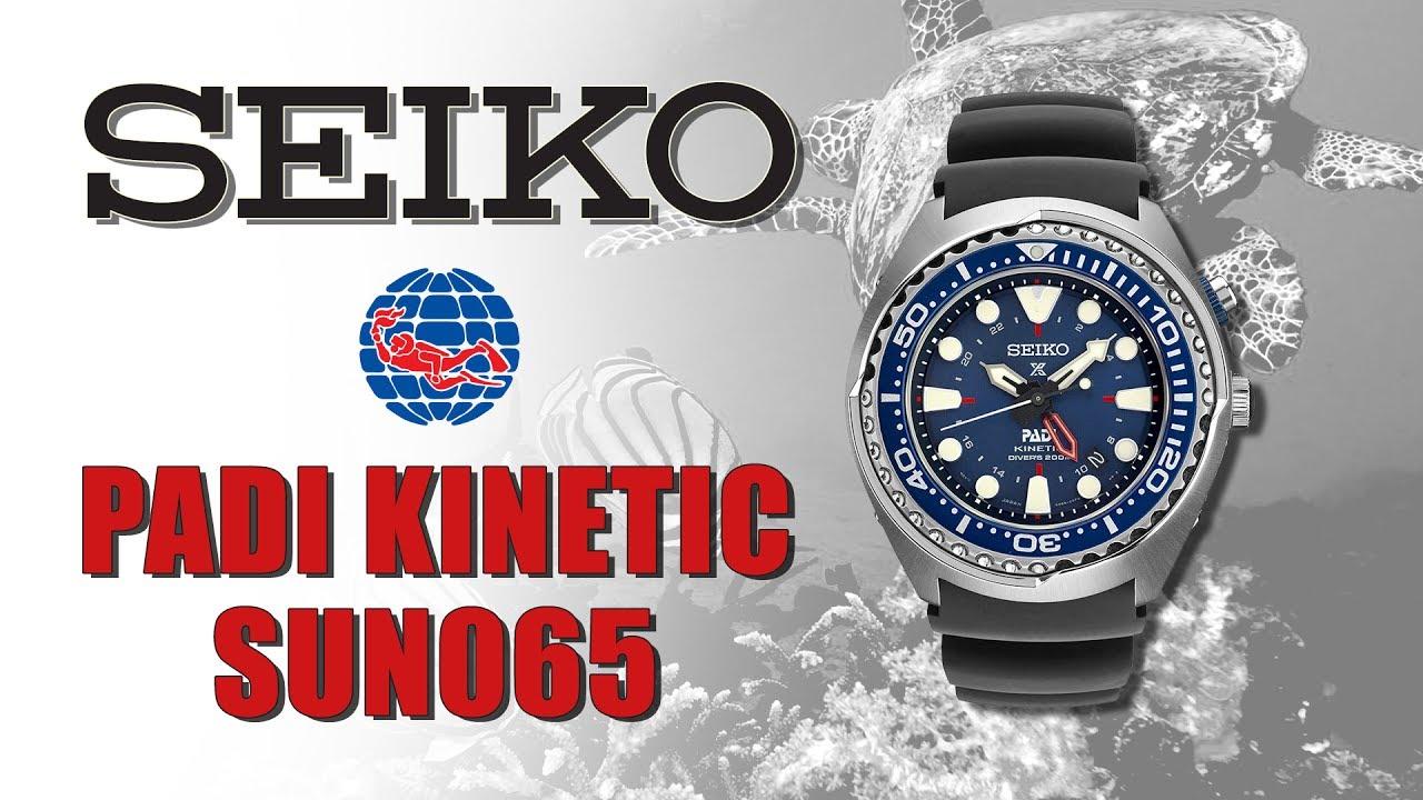 Seiko Kinetic Padi Diver Sun065 Youtube