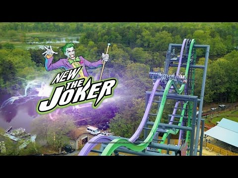 The Joker Roller Coaster! New at Six Flags Great America in 2017!