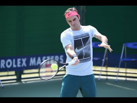 ROGER FEDERER (G.O.A.T.) 🎾 peRFecting his SERVE 🐼 COURT PRACTICE 2017 Shanghai, China