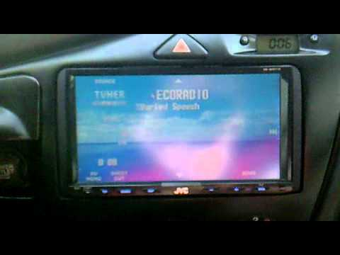 doppio double din in ford focus mk1 youtube. Black Bedroom Furniture Sets. Home Design Ideas