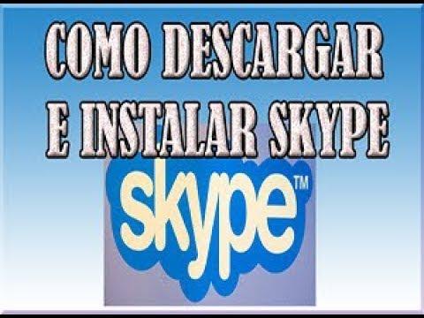 Como Descargar Skype Para PC En Español Gratis  Fácil y Rápido 2018 Para Windows 78 y 10