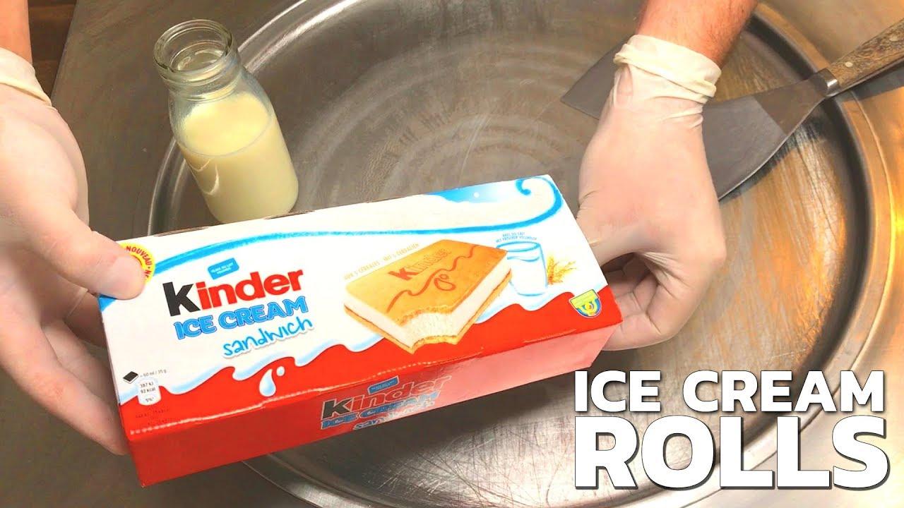 Kinder Ice Cream Sandwich Ice Cream Rolls How To Make An Ice