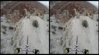 VRin - Virtual Reality Sport - Bicycle Rampage in Canyon - 3D - SBS - google cardboard