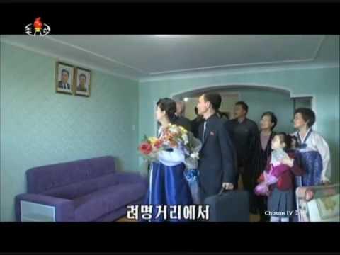 The new beatifule life in the Ryomyong Street in Pyongyang