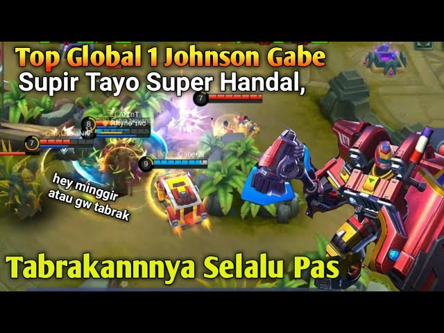 Top Global 1 Johnson Gabe, Jeepney Racer Skin! Tabrakannya Selalu Pas [Mobile Legend]