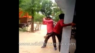 Man beaten up in police station - Faruqabad, India