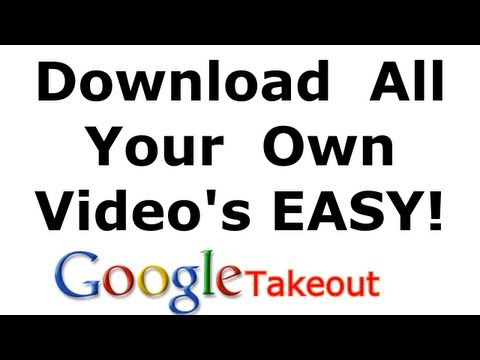 How to download all your own videos from YouTube