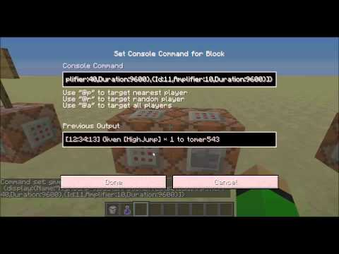 How To Make Custom Potions With Command Blocks In MineCraft