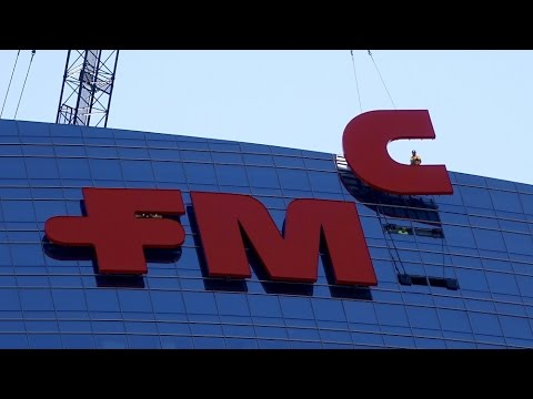Installation of FMC's Logo on FMC Tower