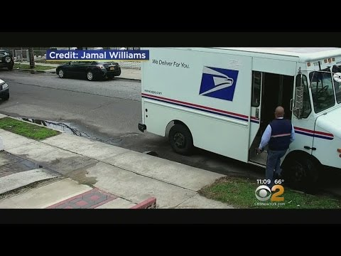 Postal Worker Caught On Video Allegedly Making Half-Hearted Attempt To Deliver Package