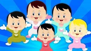 пять маленьких детей | рифма для маленьких малышей | малыши рифму | Baby Rhymes | Five Little Babies