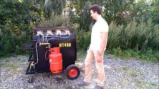 Портативный термос бункер рециклер  для горячего асфальта