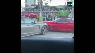Фото Это ДТП возле «Москва-Сити» уже окрестили самой дорогой аварией весны. Поучаствовали Lamborghini...