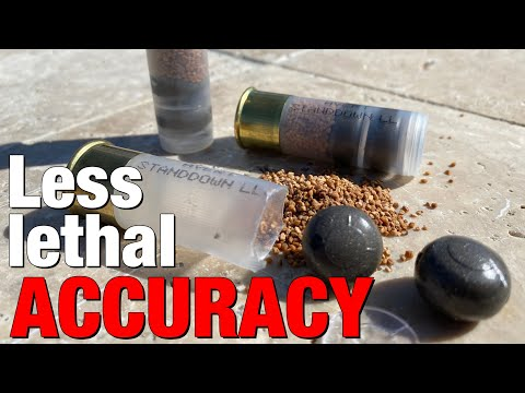 The less-lethal 12 gauge round from Avert Industries is surprisingly accurate!