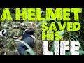 A Helmet Saved His Life