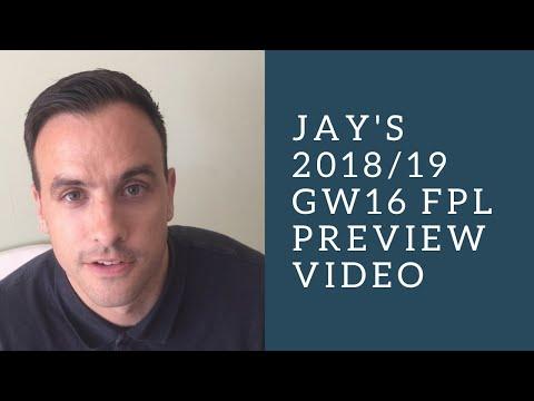 FPL 18/19 GW16 Preview: Fantasy Football tips from FPL guru Jay Egersdorff