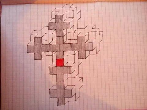 рисунки кресты ручкой в тетради