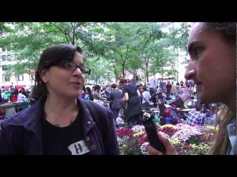 Occupy Wall Street volunteer kitchen coordinator Heather Squire