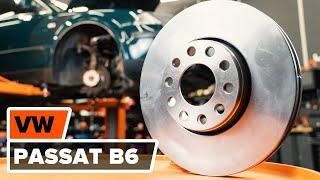 Como substituir os discos de travões dianteiros e as pastilhas de travão no VW PASSAT B6 [TUTORIAL]