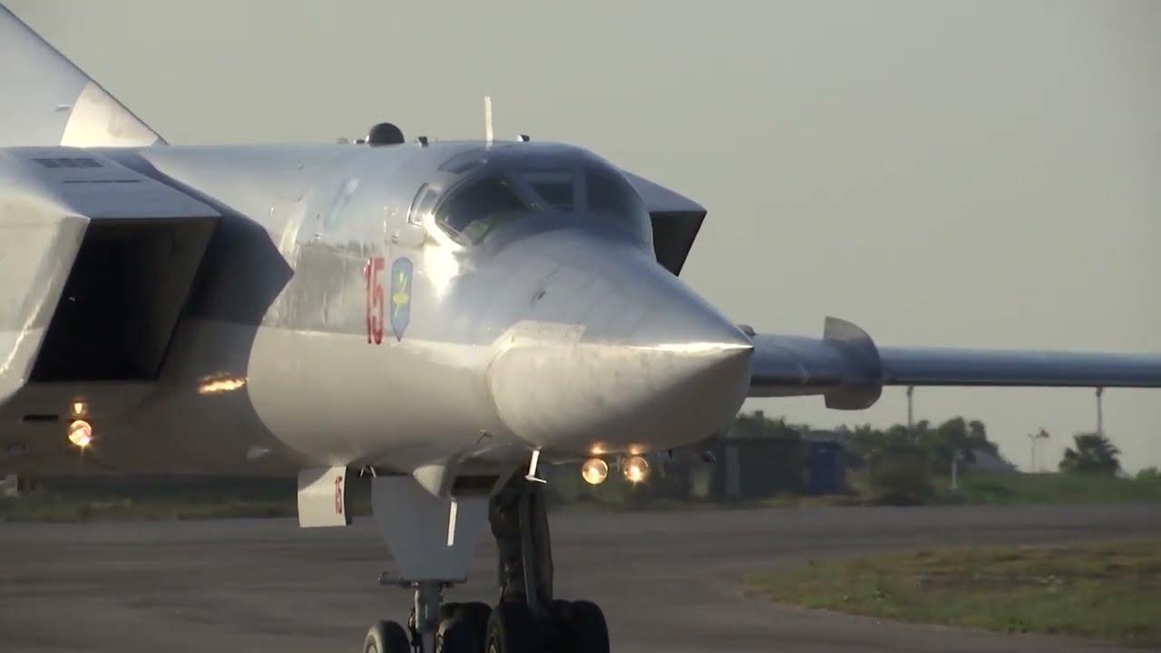 Прибытие Ту-22М3 на авиабазу Хмеймим