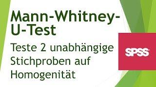 Mann-Whitney-U-Test - Voraussetzungen, Funktionsweise und Interpretation - Daten analysieren in SPSS