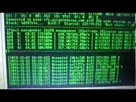 Infinitecoin (IFC) Mining 5*7970 Radeon