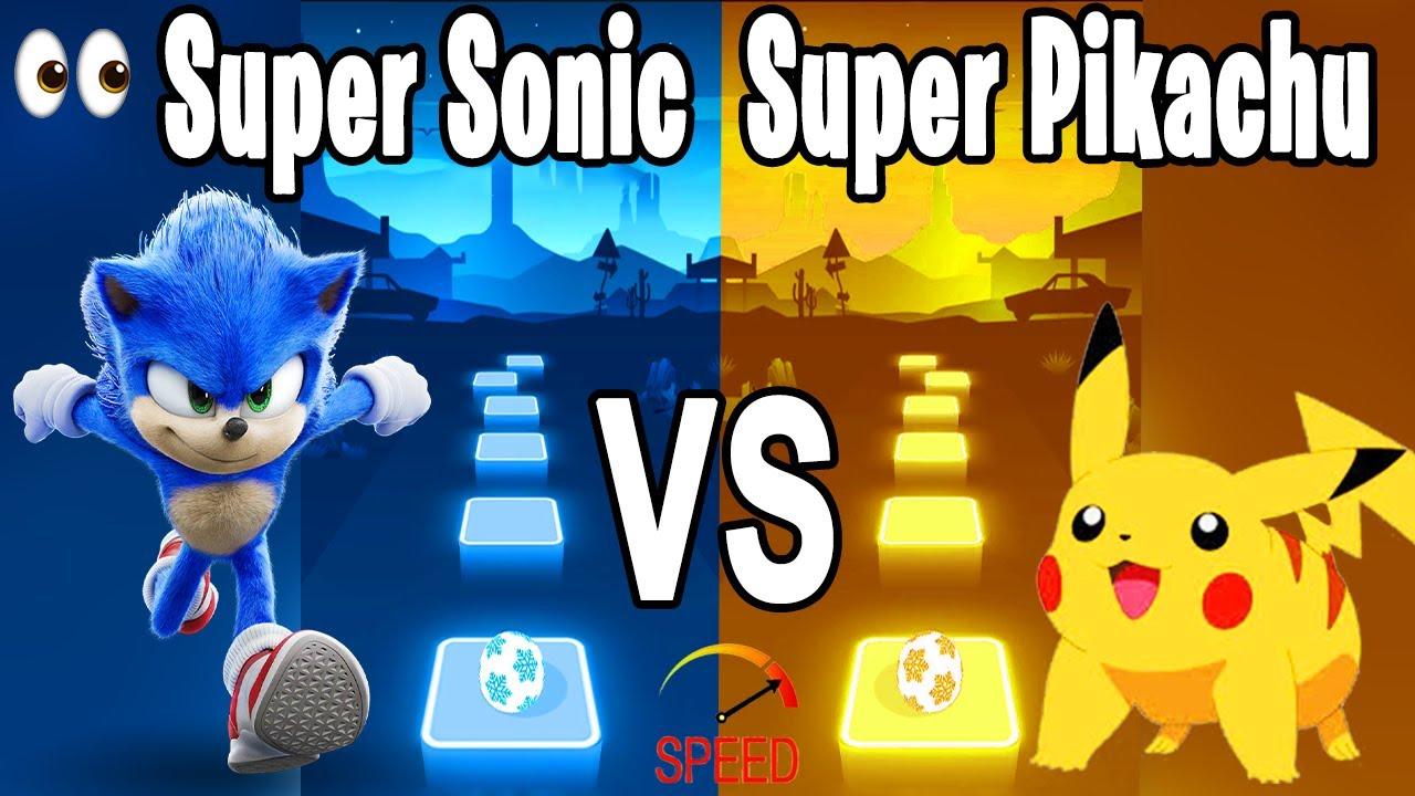 Download Sonic the Hedgehog Song VS Pika Pikachu tiktok Song - Tiles Hop Edm RUSH!