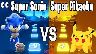 Sonic the Hedgehog S๐ng VS Pika Pikachu tiktok Song - Tiles Hop Edm RUSH!