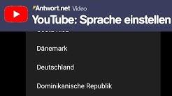 YouTube Sprache einstellen