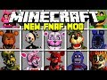 Minecraft NEW FIVE NIGHTS AT FREDDY'S MOD!   FREDDY, SPRINGTRAP, FOXY & MORE!   Modded Mini-Game
