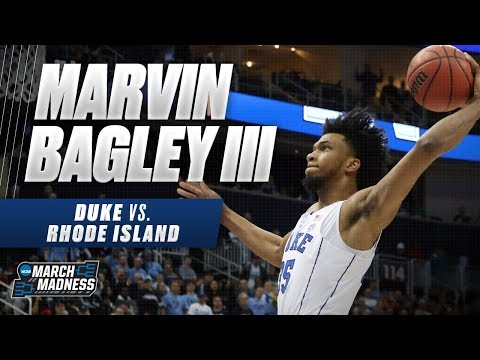 Marvin Bagley scores 22 points in Duke's win over Rhode Island