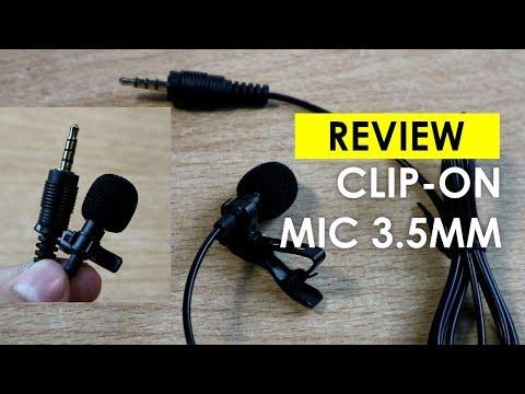 Review Mic Clip On 3.5mm Mic Lavalier Premium B - Batamkamera.com