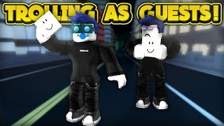 TROLLING AS GUESTS! (ROBLOX Jailbreak)