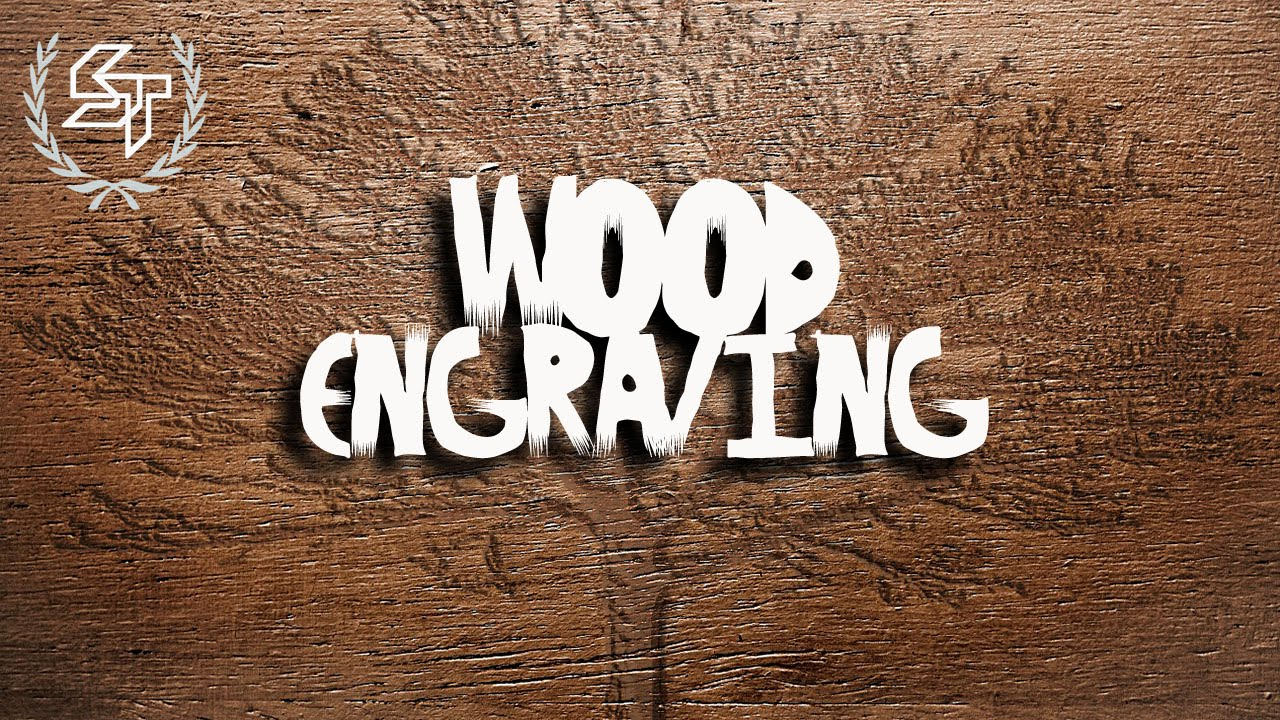 Photoshop cutting wood text effect tutorial youtube.