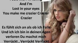Taylor Swift - Crazier (Lyrics+Deutsche Übersetzung)