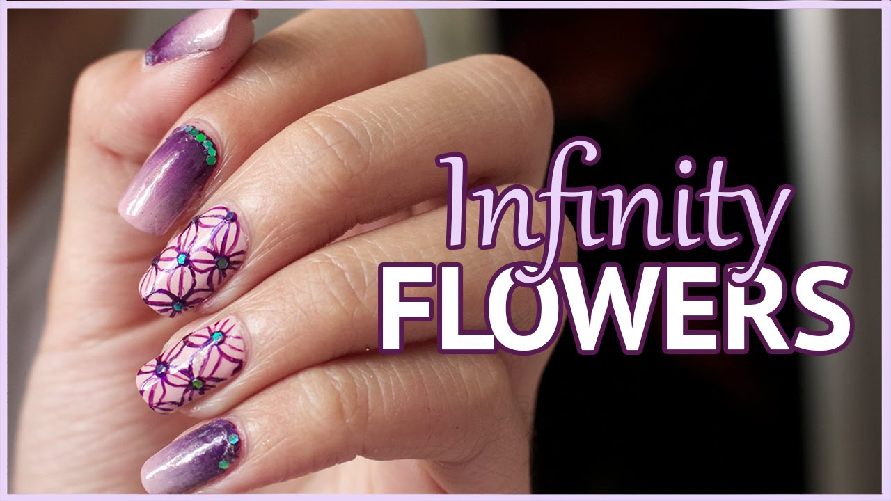 Infinity Flowers Nail Art Tutorial Pattern Nails Youtube