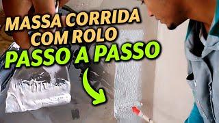 APRENDA VC MESMO A APLICA MASSA CORRIDA #COM O ROLO# PASSO A PASSO thumbnail