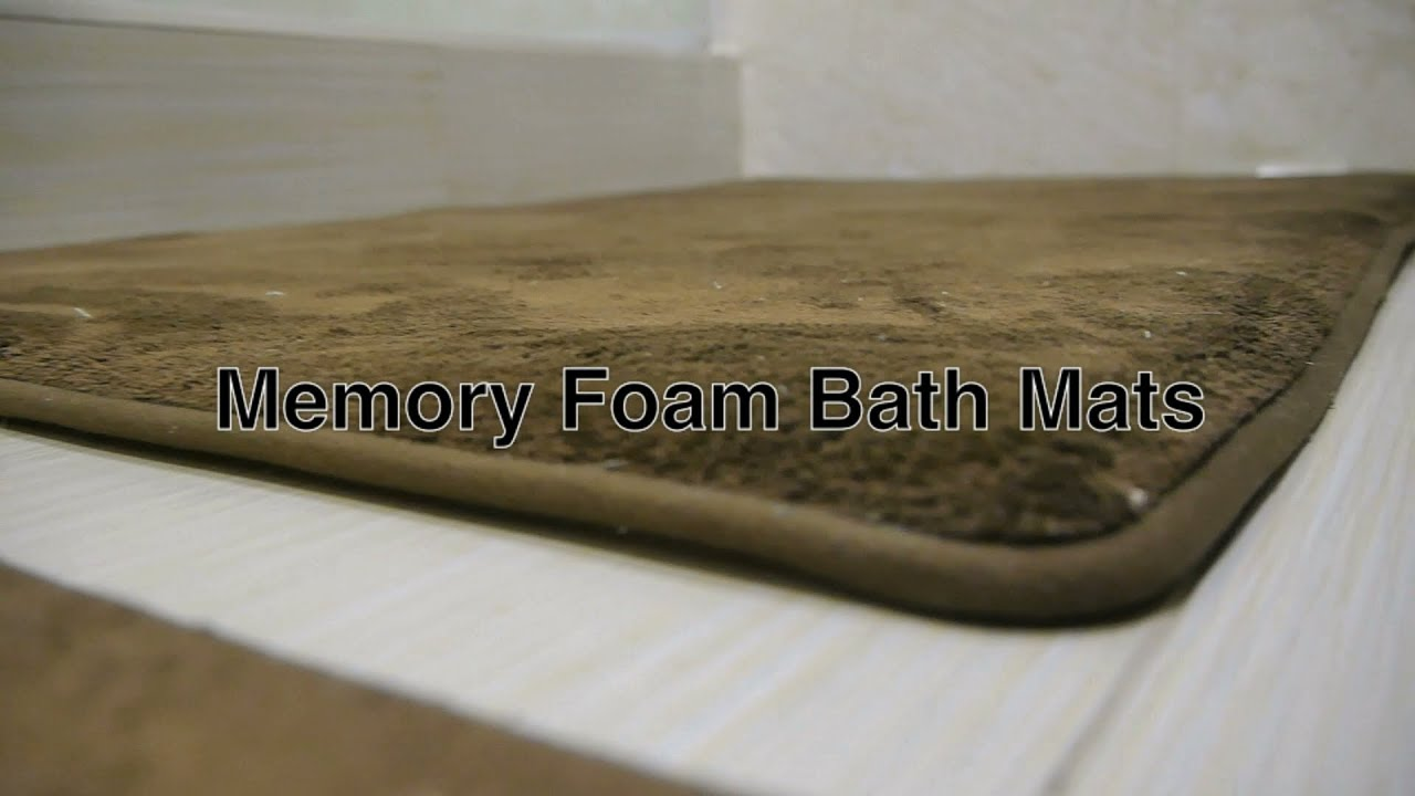 Memory Foam Bath Mat Bathroom Rugs Large Contemporary Modern Brown Colored Floor Mats Rug