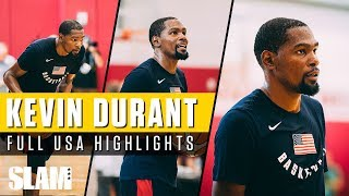 Kevin Durant is KING of the COURT Full USA Highlights