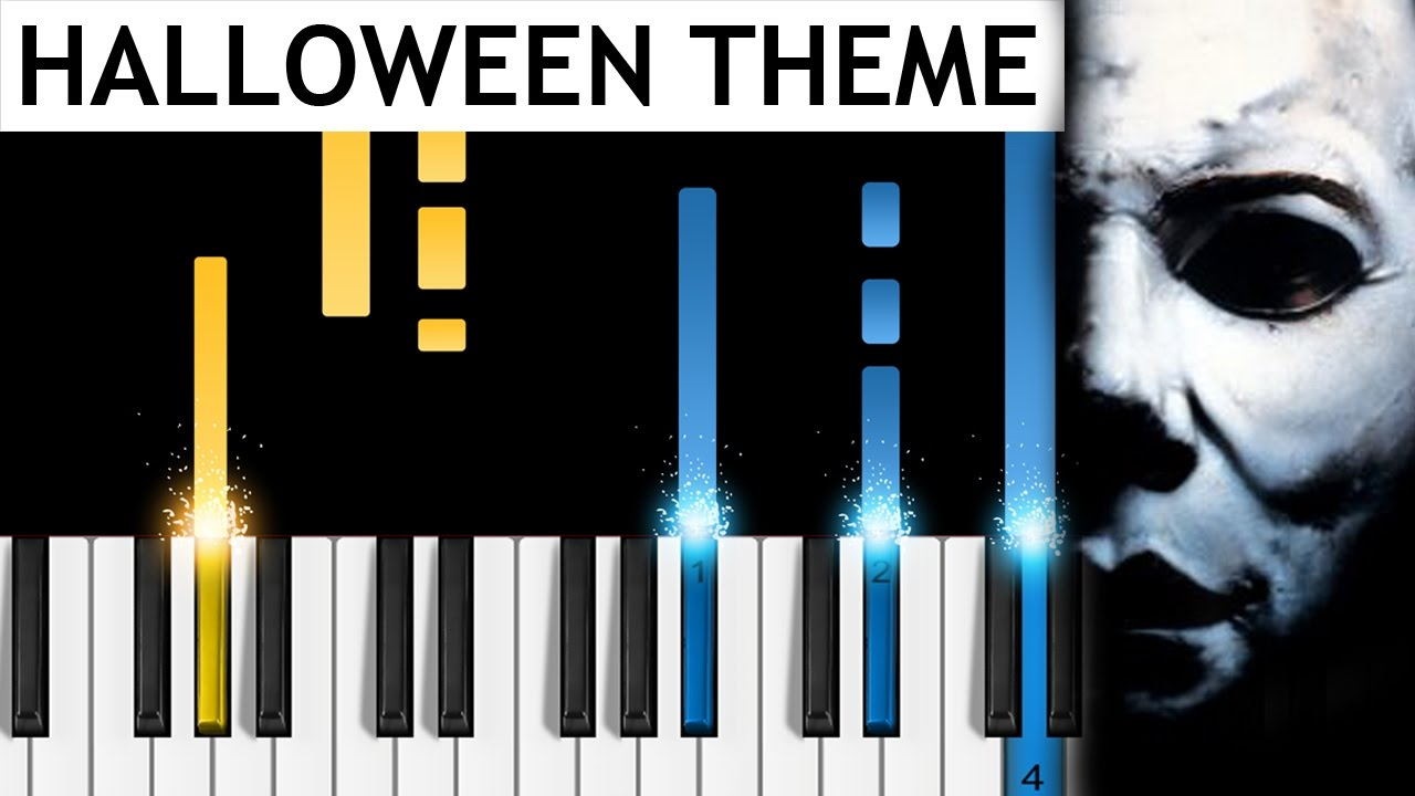 halloween theme - piano tutorial - how to play john carpenter's