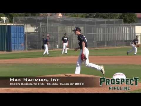 Max Nahmias Prospect Video, SS, Crespi Carmelite High School Class of 2020