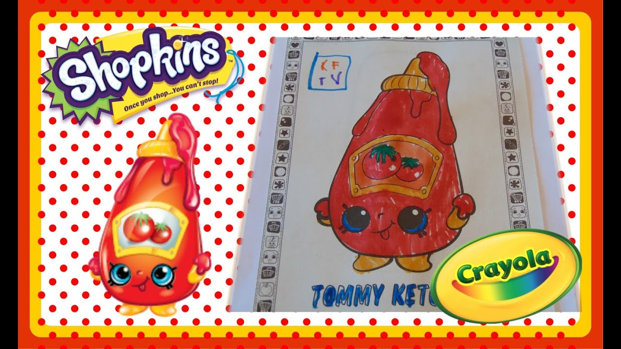 SHOPKINS SEASON 1 COLORING BOOK SPEED COLOR OF TOMMY