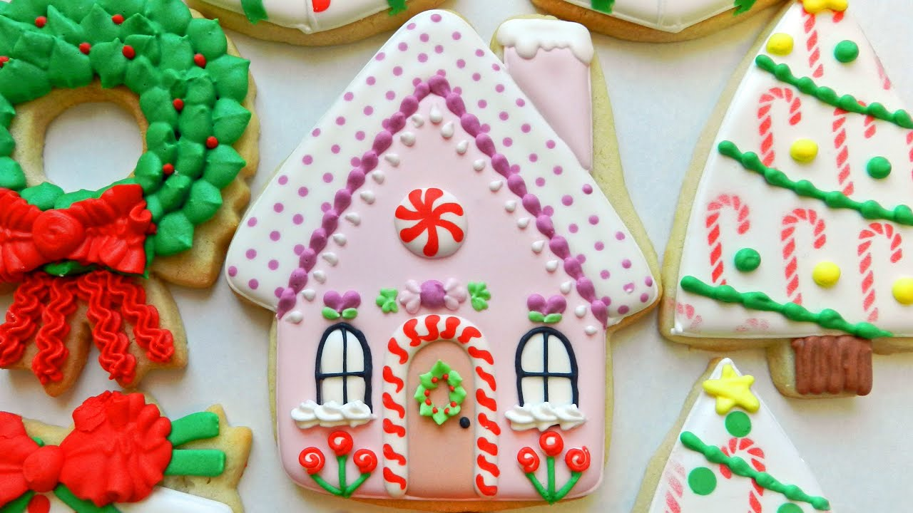how to decorate a gingerbread house cookie - How To Decorate Christmas Cookies
