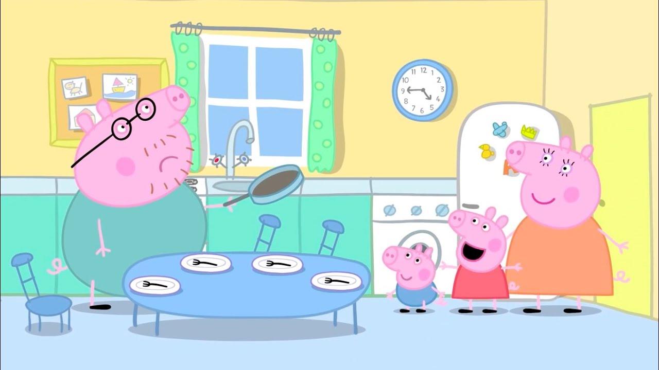 Peppa Pig Pancakes Peppa Pig Online Game Daddy Pig Is Cooking Pancakes