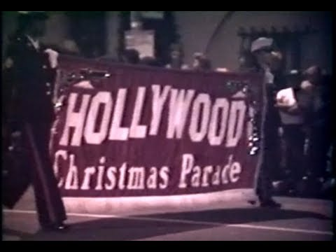 Hollywood Christmas parade 1990  home video footage