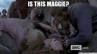 Does it show Maggie die in The Walking Dead Season 6 Trailer